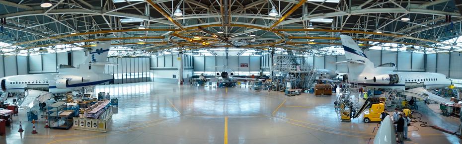 Sol résine - Hangar Dassault - Une